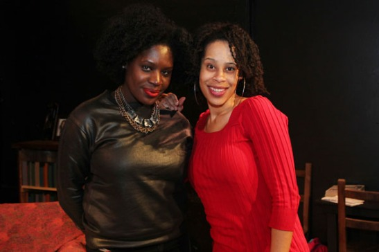 Playwrights Camille Darby and Dominique Morisseau. Photo by Lia Chang