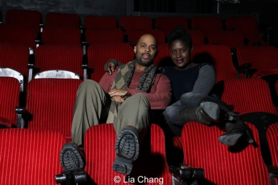 Lords Resistance's director Christopher Burris and playwright Camille Darby. Photo by Lia Chang
