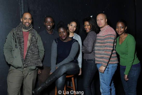 Christopher Burris, Matthew Muramba, Camille Darby, Carmen LoBue, Tracey Conyer Lee, Lelund Durond Thompson and Barbara Matovu. Photo by Lia Chang