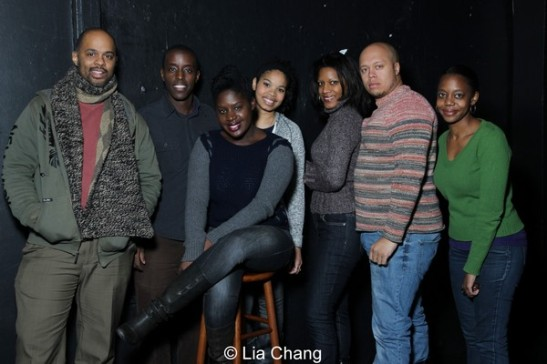 Christopher Burris, Matthew Murumba, Camille Darby, Carmen LoBue, Tracey Conyer Lee, Lelund Durond Thompson and Barbara Matovu. Photo by Lia Chang