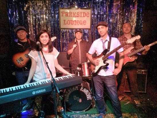 The Condescending Liberals featuring Joe Charupakorn, special guest Ashni Davé, Yoshiaki Makino, Sachin Shenolikar and Hiro Odaira  at The Parkside Lounge in New York on January 17, 2014. Photo by Lia Chang