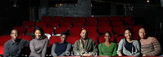 Matthew Murumba, Tracey Conyer Lee, Christopher Burris, Camille Darby, Barbara Matovu, Carmen LoBue and Lelund Durond Thompson. Photo by Lia Chang