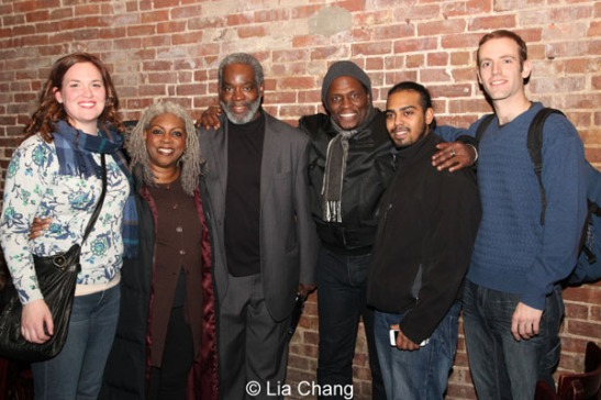 Melissa Harlow-Cissell, Connie Stewart, Rome Neal, Robert Turner, Sam Chico and Stephen Powell. Photo by Lia Chang