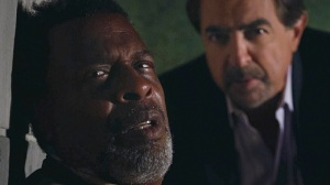 "Meshach Taylor and Joe Mantegna in Criminal Minds - ""The Fallen"". Photo: Screen Grab/CBS © 2012 CBS Broadcasting Inc. All Rights Reserved."