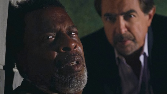 Meshach Taylor and Joe Mantegna in Criminal Minds - Photo: Screen Grab/CBS © 2012 CBS Broadcasting Inc. All Rights Reserved.