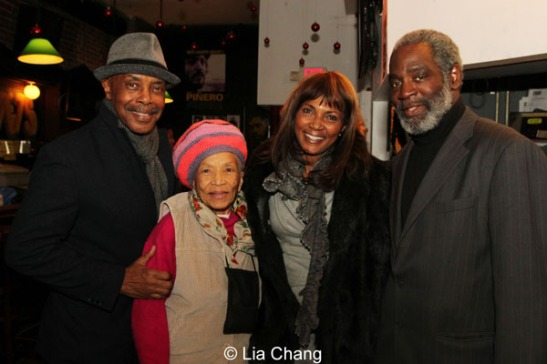 Roscoe Orman, Amy Olatunji, Kimberley LaMarque Orman and Rome Neal. Photo by Lia Chang