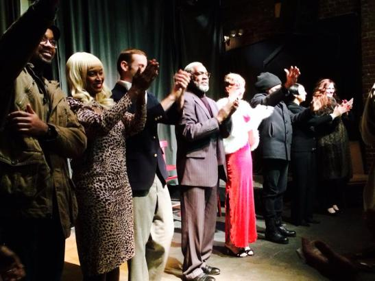 The closing night curtain call of Ishmael Reed's The Final Version at the Nuyorican Poets Café in New York on January 19, 2014. Photo by Lia Chang