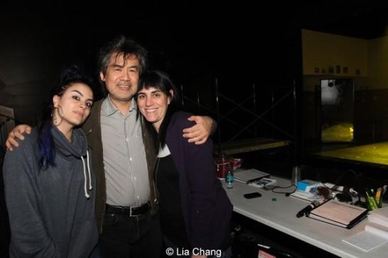 Kung Fu choreographer Sonya Tayeh, playwright David Henry Hwang and Leigh Silverman. Photo by Lia Chang