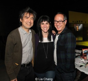 Kung Fu director playwright, director Leigh Silverman and assistant director Alan Muraoka at The Pershing Square Signature Center on February 11, 2014. Photo by Lia Chang