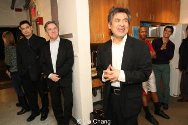 Jim Houghton and David Henry Hwang. Photo by Lia Chang