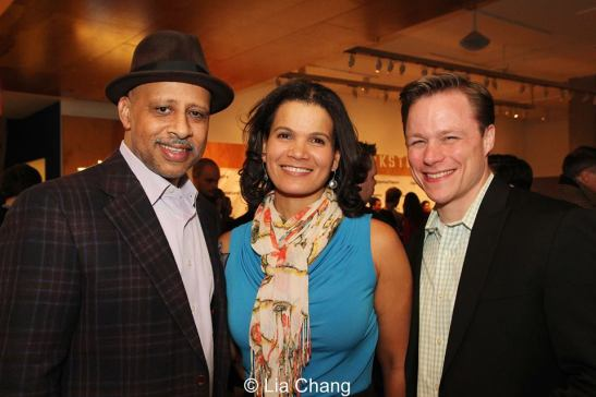 Ruben Santiago-Hudson, January LaVoy and guest. Photo by Lia Chang