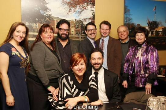 Co-star and co-writer Steve Rosen is surrounded by his family on opening night of The Other Josh Cohen at Charlie Brown's in Milburn, NJ on February 23, 2014. Photo by Lia Chang