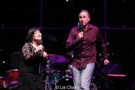Ann Harada with special guest Kevin Pariseau in rehearsal in The Allen Room in New York on February 22, 2014. Photo by Lia Chang