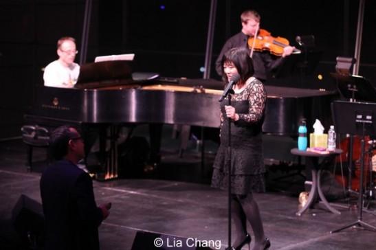 Director Alan Muraoka gives Ann Harada notes in dress rehearsal. Photo by Li a Chang