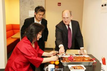 Joanna C. Lee, David Henry Hwang and Ken Smith. Photo by Lia Chang
