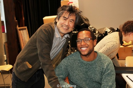 Kung Fu playwright David Henry Hwang and Appropriate playwright Branden Jacobs-Jenkins. Photo by Lia Chang