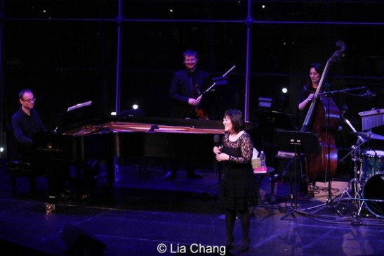 Ann Harada on stage with Gary Adler, JJ Johnson and MaryAnn McSweeney. Photo by Lia Chang