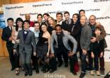The cast and creative team of David Henry Hwang's celebrate at their opening night party at Signature Theatre Company's Pershing Square Signature Center in New York on February 24, 2014. Photo by Lia Chang