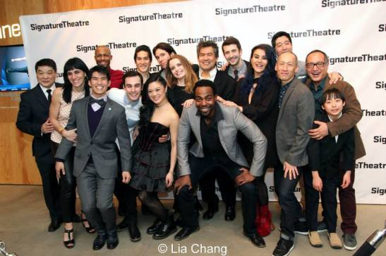 The cast and creative team of David Henry Hwang's KUNG FU celebrate at their opening night party at Signature Theatre Company's Pershing Square Signature Center in New York on February 24, 2014. Photo by Lia Chang