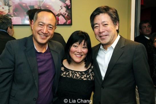 Alan Muraoka, Ann Harada and Jon Nakagawa, Director, Contemporary Programming at Lincoln Center for the Performing Arts. Photo by Lia Chang