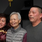 Mei Chan, Mrs. Chin and her son Ed Chin. Photo by Lia Chang
