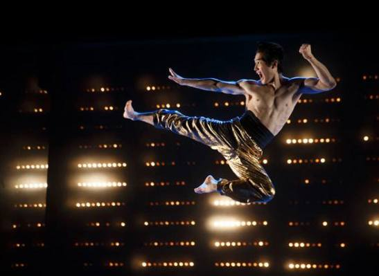 Cole Horibe as Bruce Lee. Photo by Joan Marcus