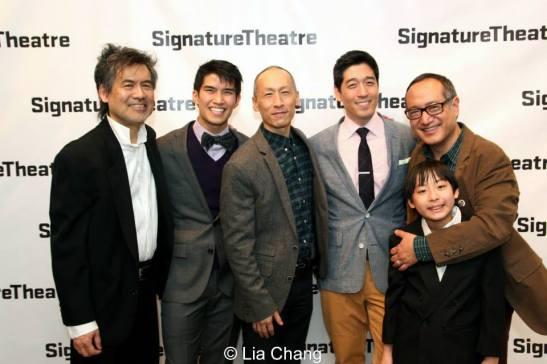 David Henry Hwang, Christopher Vo, Francis Jue, Peter Kim, Bradley Fong and Alan Muraoka. Photo by Lia Chang