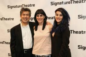 Kung Fu playwright David Henry Hwang, director Leigh Silverman and choreographer Sonya Tayeh. Photo by Lia Chang