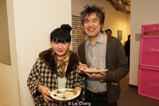 Kung Fu composer Du Yun  and playwright David Henry Hwang. Photo by Lia Chang