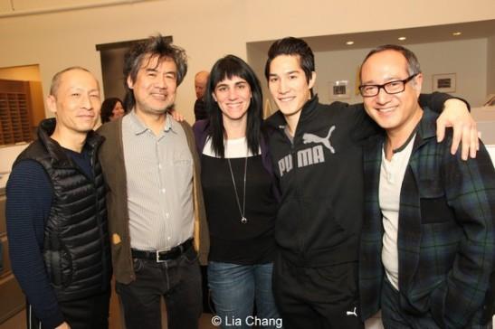 Francis Jue, David Henry Hwang, Leigh Silverman, Cole Horibe and Alan Muraoka. Photo by Lia Chang
