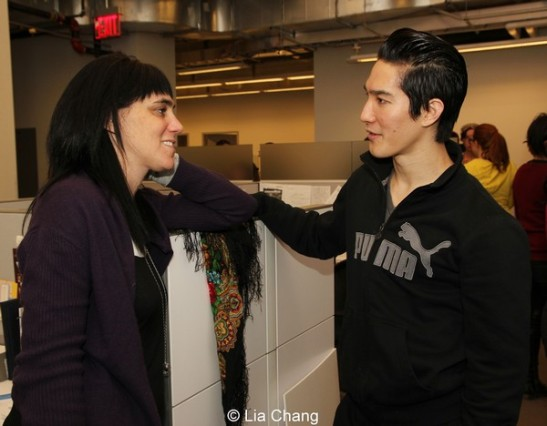 Kung Fu director Leigh Silverman and Cole Horibe. Photo by Lia Chang