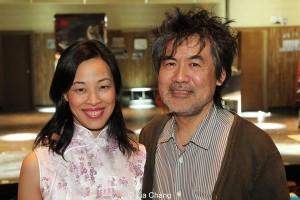 Lia Chang and Kung Fu playwright David Henry Hwang.
