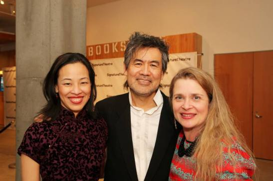 Lia Chang, David Henry Hwang and Kathryn Layng-Hwang. Photo by Joanna C. Lee