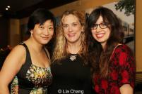 Lily Fan, Jennifer Caprio (Costume Design) and Jen Schriever (Lighting Design). Photo by Lia Chang
