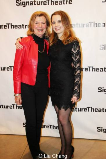 Two Linda Lees- Bruce Lee's widow, Linda Lee Cadwell meets the actress who plays her in Kung Fu, Phoebe Strole. Photo by Lia Chang