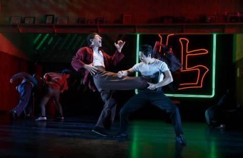 "Ari Loeb and Cole Horibe in David Henry Hwang's ""Kung Fu"". Photo by Joan Marcus"