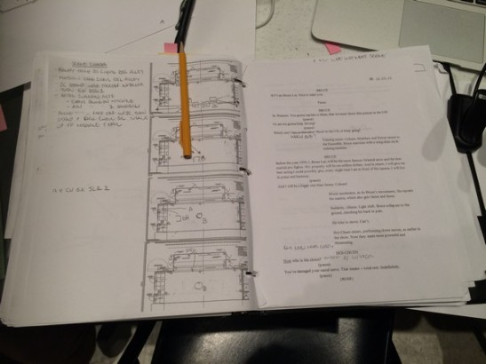 The script for David Henry Hwang's Kung Fu. Photo by Lia Chang