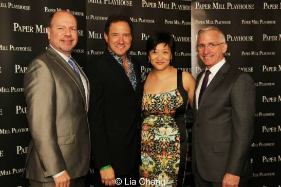 Todd Schmidt, Managing Director, Paper Mill Playhouse, co-producers Kevin McCollum and Lily Fan, and Mark S. Hoebee, Producing Artistic Director, Paper Mill Playhouse. Photo by Lia Chang