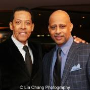 Peter Jay Fernandez and Ruben Santiago-Hudson. Photo by Lia Chang