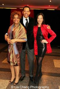 Denise Burse, Peter Jay Fernandez and Lia Chang. Photo by MaameYaa Boafo