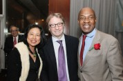 Alice Young, Barry Scheck and Charles Ogletree, Jr. Photo by Lia Chang