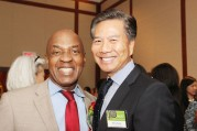 Charles Ogletree, Jr. and Art Chong. Photo by Lia Chang