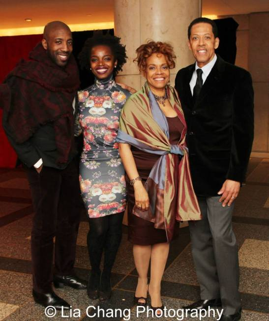 Jeremiah Abiah, MaameYaa Boafo, Denise Burse, Peter Jay Fernandez. Photo by Lia Chang