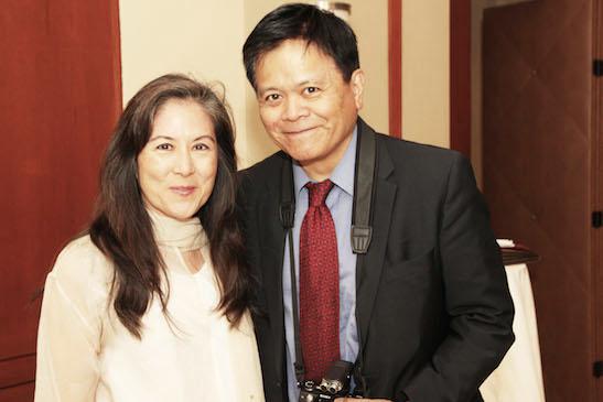 Mari Matsuda and Emil Guillermo. Photo by Lia Chang
