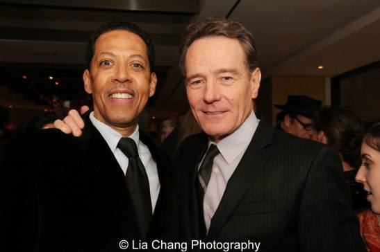Peter Jay Fernandez and Bryan Cranston. Photo by Lia Chang