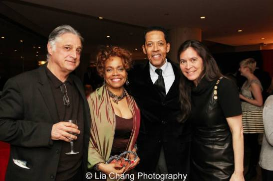 Dramaturge Tom Bryant, Denise Burse, Peter Jay Fernandez and Diane Paulus. Photo by Lia Chang