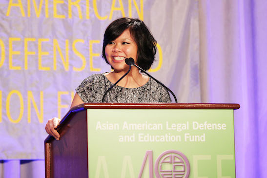 AALDEF client Hong-Mei Pang, now organizer of AALDEF's undocumented youth group RAISE. Photo by Lia Chang