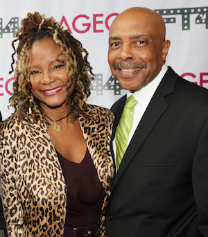 Tonya Pinkins and Roscoe Orman at New Federal Theatre's 44th Anniversary Gala on March 16, 2014 at BMCC Tribeca Performing Arts Center in New York. Photo by Lia Chang
