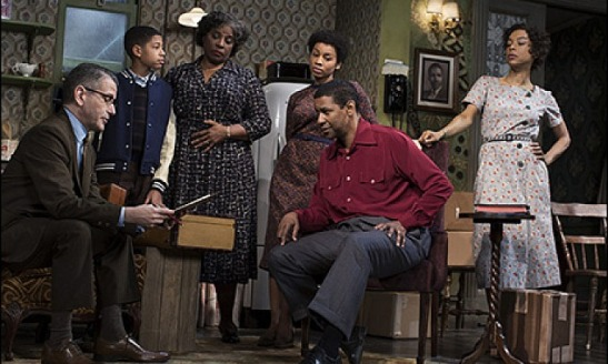 Ten years after first directing A Raisin in the Sun on Broadway, Kenny Leon is back with a new rendition of the play, starring Denzel Washington and Sophie Okonedo. (Also pictured, from left: David Cromer, Bryce Clyde Jenkins, LaTanya Richardson Jackson and Anika Noni Rose). Courtesy of Rinaldi PR