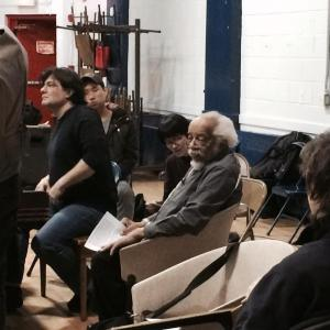 Barry Harris (seated) during his Jazz Vocals Workshop he conducts at the Lincoln Square Community Center in New York on March 11, 2014. Photo by Lia Chang
